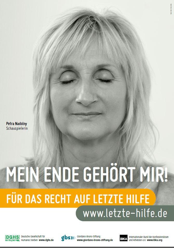 Plakat der Giordano Bruno Stiftung für die Sterbehilfe-Kampagne (Bild: Giordano Bruno Stiftung)