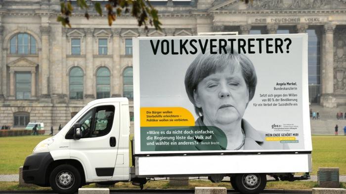 gbs-Kampagne zur Sterbehilfe (Foto: Evelin Frerk)